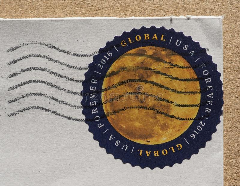 美利坚合众国的邮票 免版税库存照片
