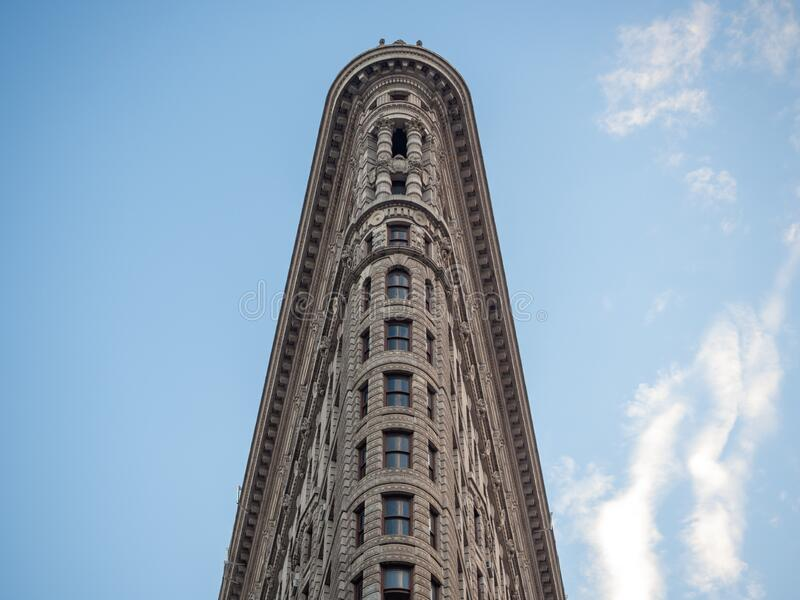 美利坚合众国纽约市曼哈顿:[麦迪逊广场Daniel Burnham建造的Flatiron Fuller大楼] 免版税图库摄影