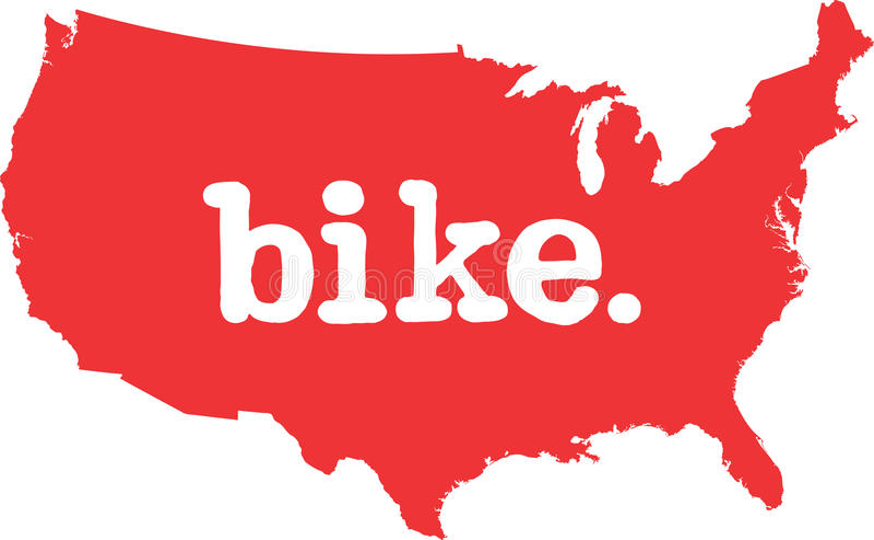 美利坚合众国自行车状态向量标志 向量例证