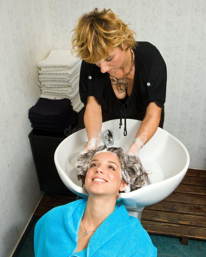 美发师工作 免版税库存图片