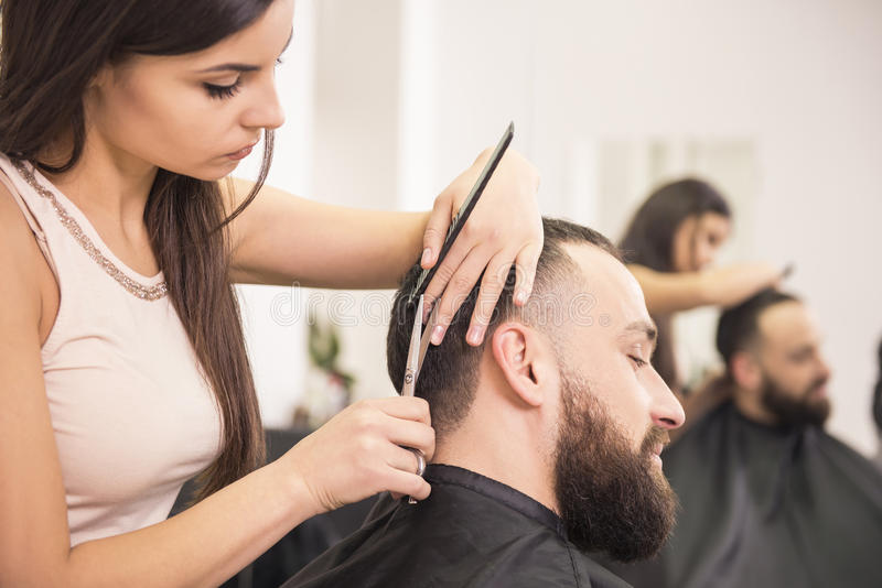 美发师的 免版税图库摄影