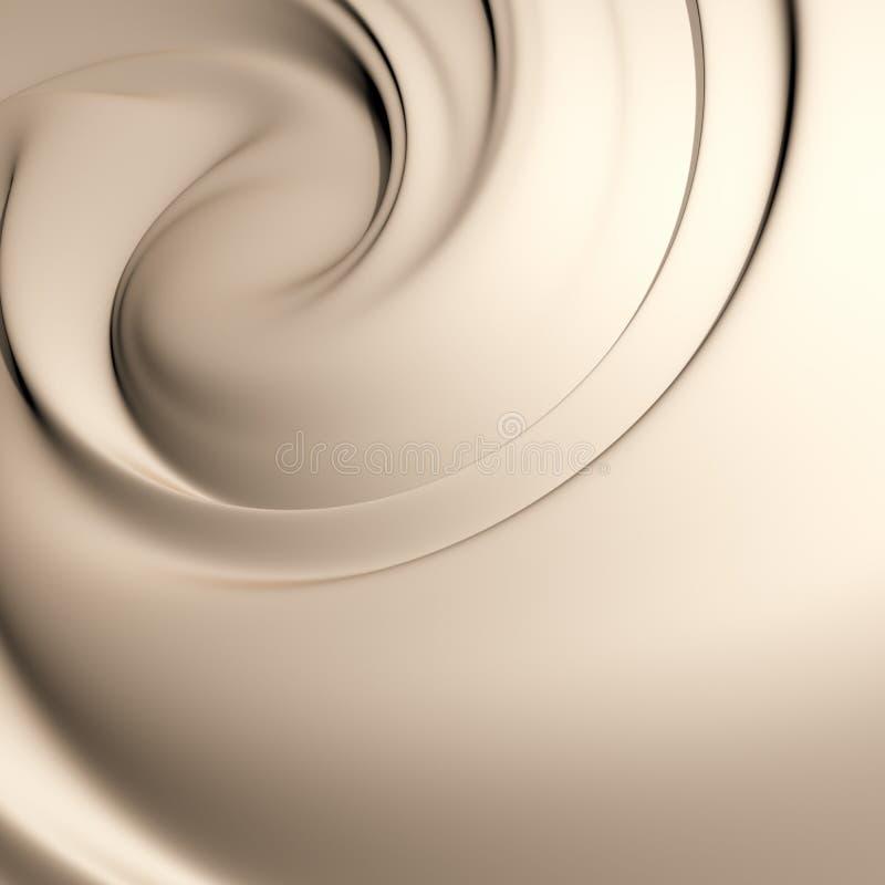 美味乳脂状的漩涡 向量例证