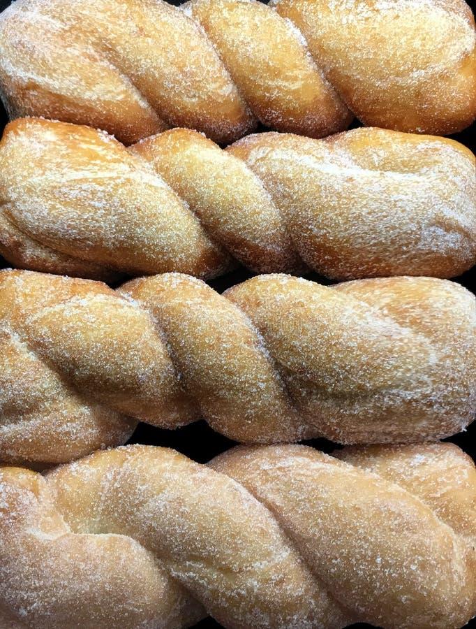 美味的新糖转弯Donits 库存图片