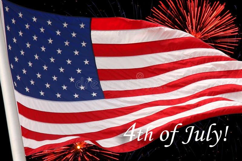 美国下垂与7月第4 免版税库存图片