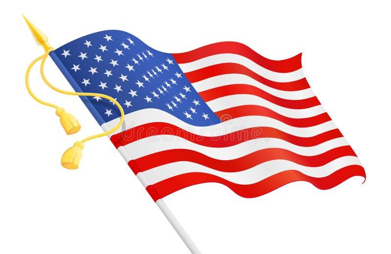 美国下垂在把柄 国家标志 向量例证