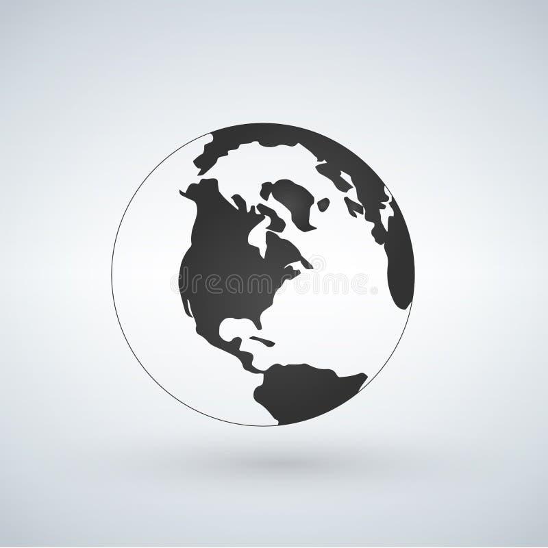 美国世界地球象,在白色backg隔绝的传染媒介例证 向量例证