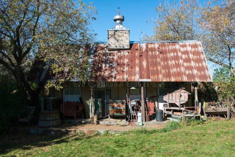 美国东南部山区的农民山客舱棚子 库存图片