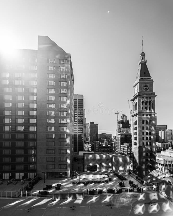 美国丹佛–2020年4月5日:日出反射 免版税库存照片