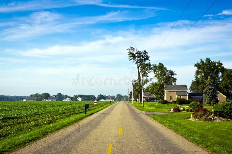 美国乡下公路 库存照片