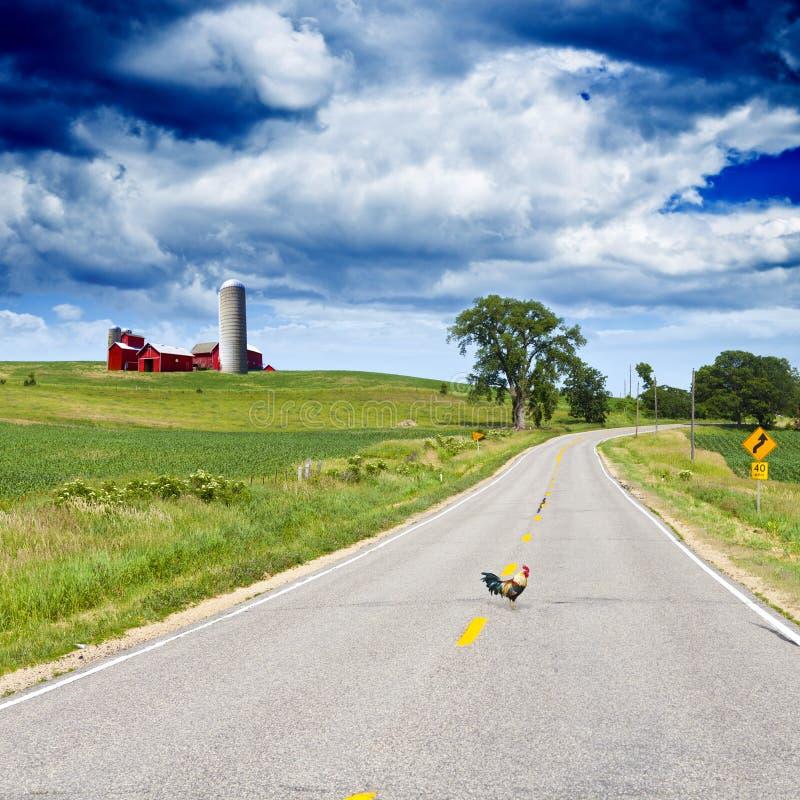 美国乡下公路 免版税库存照片