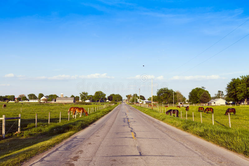 美国乡下路 库存照片