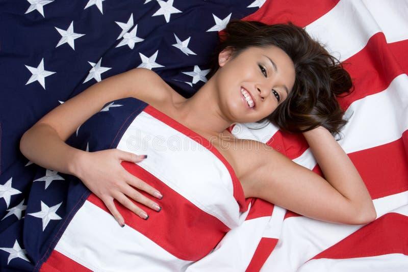 美国亚裔女孩 免版税库存图片