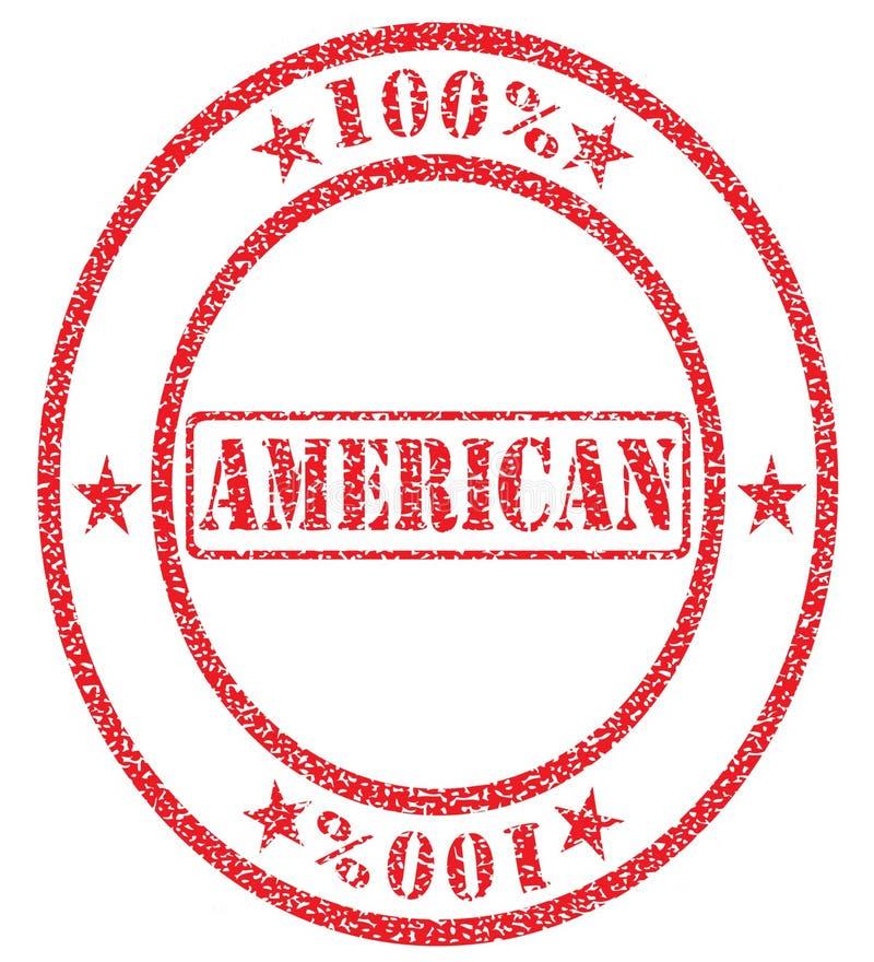 美国人百分之一百 向量例证