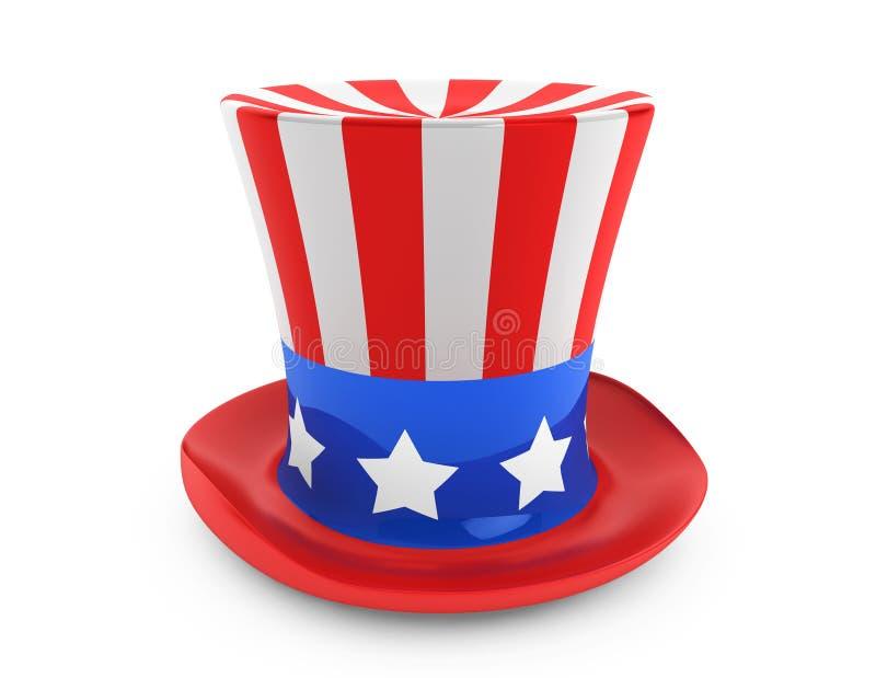 美国人美国独立日帽子 向量例证