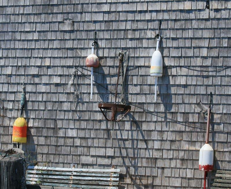 美国人鱼简陋小木屋 免版税库存照片