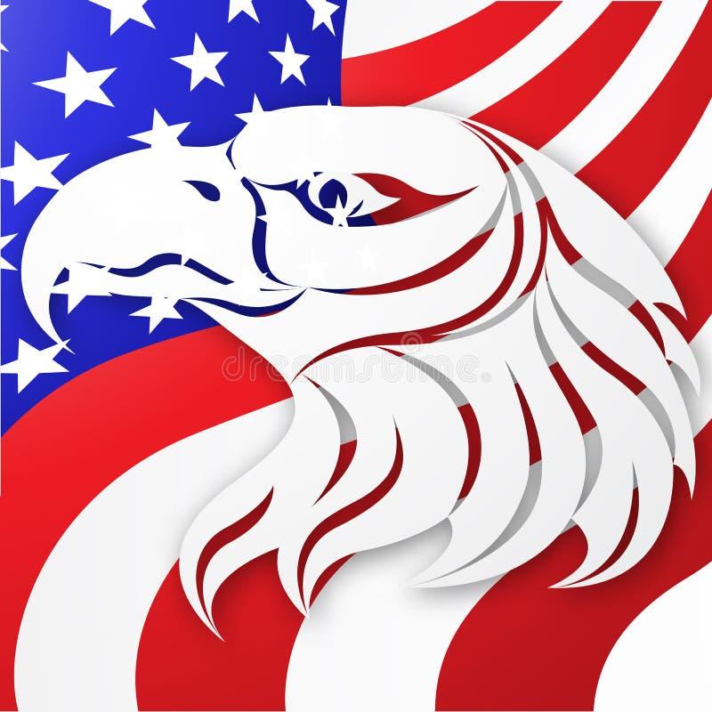 美国传染媒介背景 美国国旗 美国老鹰 设计例证股票您使用的向量 皇族释放例证
