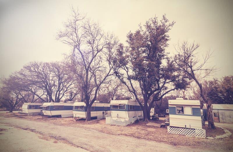 美国住宅拖车庄园,美国countrysi的葡萄酒图片 免版税库存图片