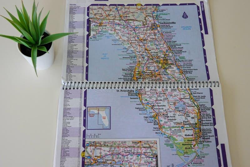 美国佛罗里达州地图 库存图片