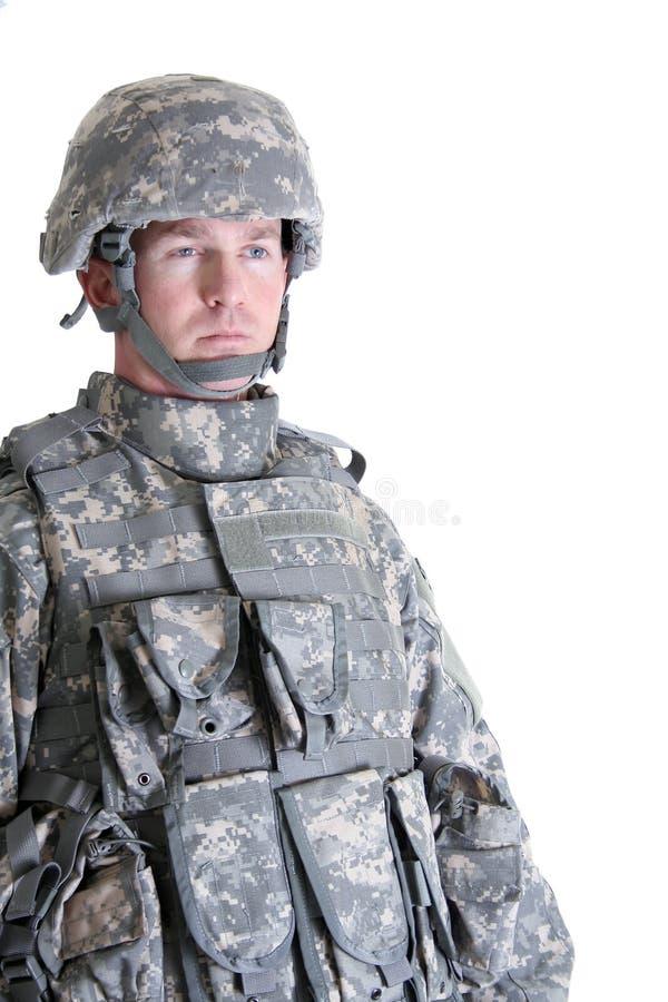 美国作战战士 库存照片