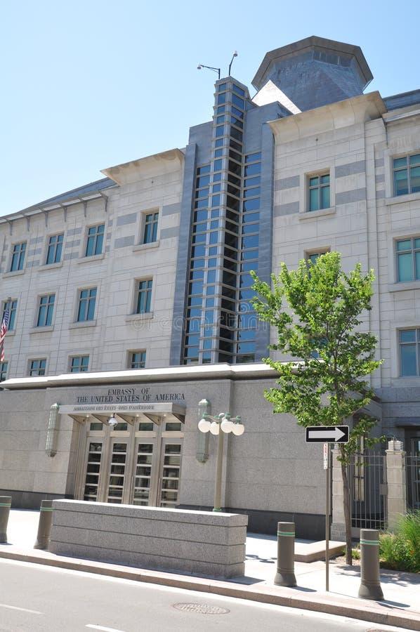 美国使馆在渥太华 库存图片