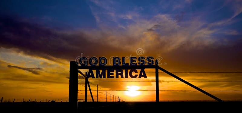 美国保佑神 免版税库存图片