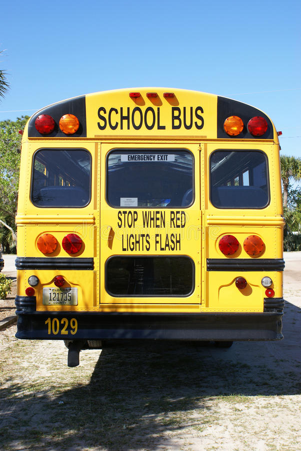 美国公共汽车学校 库存照片