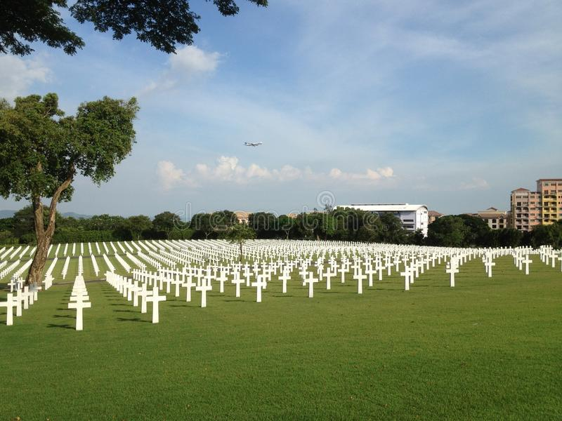 美国公墓,马尼拉,菲律宾 免版税库存照片