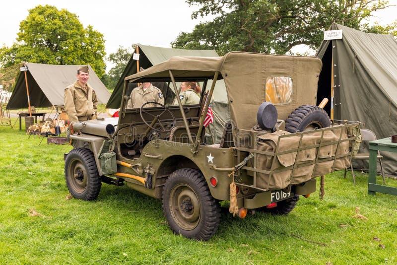 美国军队威力斯MB吉普WWII 免版税图库摄影
