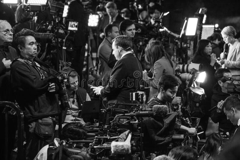 美国副总统拜登星期二在鲍德温山体育中心发表超级胜利演讲 图库摄影