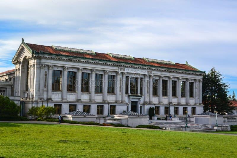 美国加利福尼亚大学的图书馆 库存图片