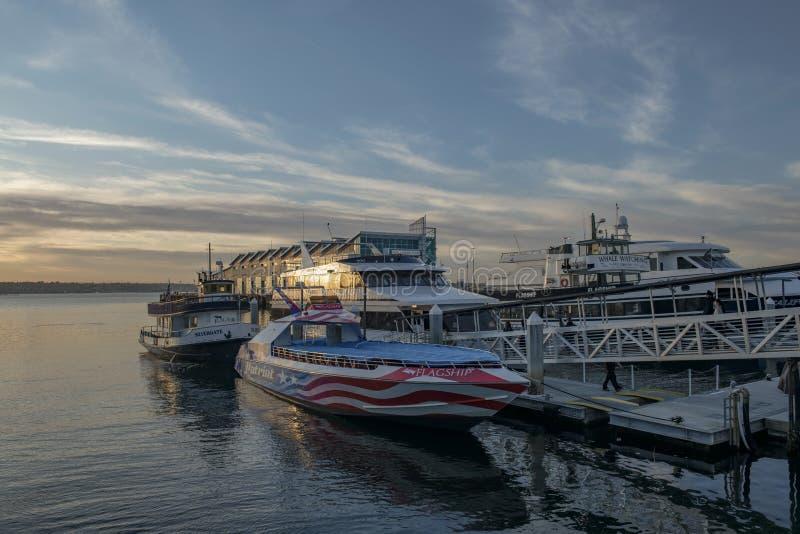 美国加利福尼亚州圣地亚哥市的日落 图库摄影