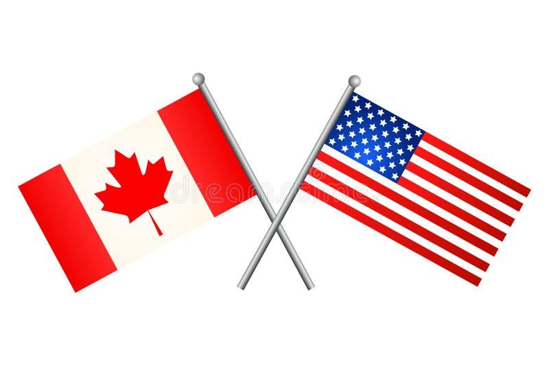 美国加拿大标志 也corel凹道例证向量 向量例证