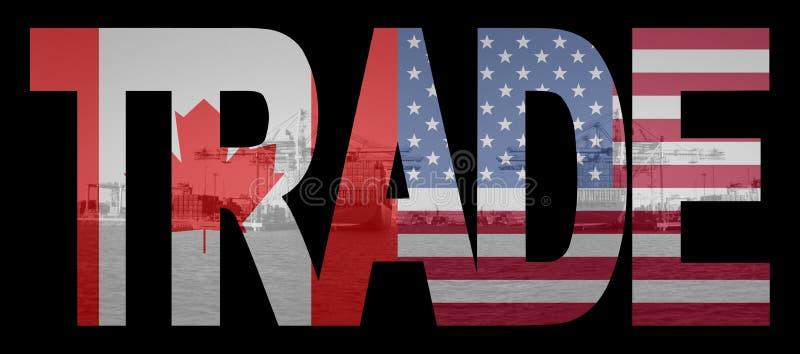 美国加拿大贸易 库存例证