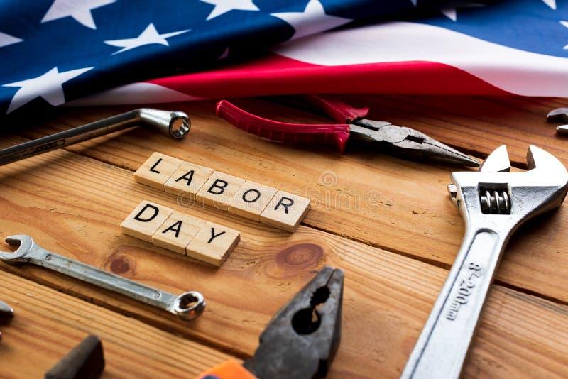 美国劳动节概念,第一星期一在9月 免版税库存照片