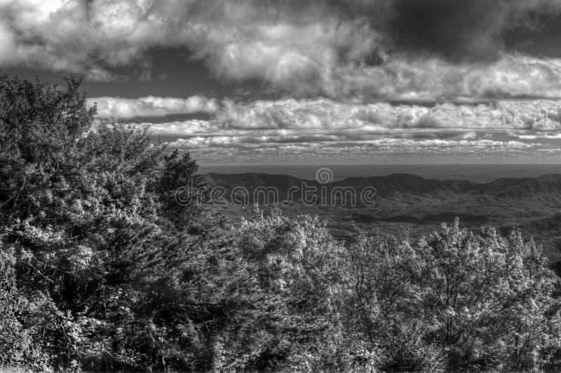 美国北卡罗来纳州蓝岭公园道脊交界处 免版税图库摄影