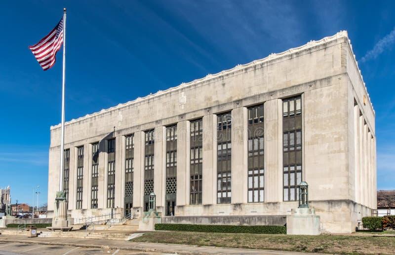 美国区域法院在子午密西西比 免版税库存图片