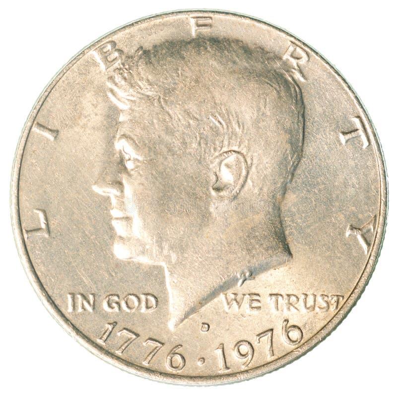 美国半元硬币 免版税图库摄影