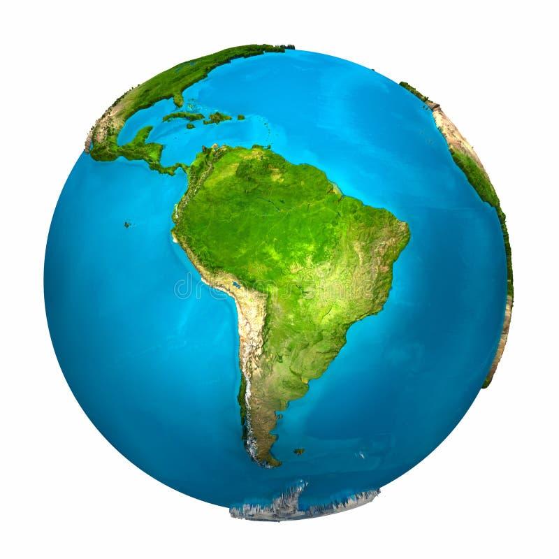 美国南地球的行星 向量例证