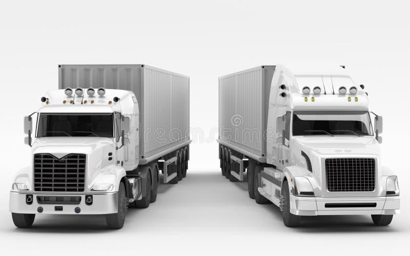 美国卡车 国际运输 皇族释放例证