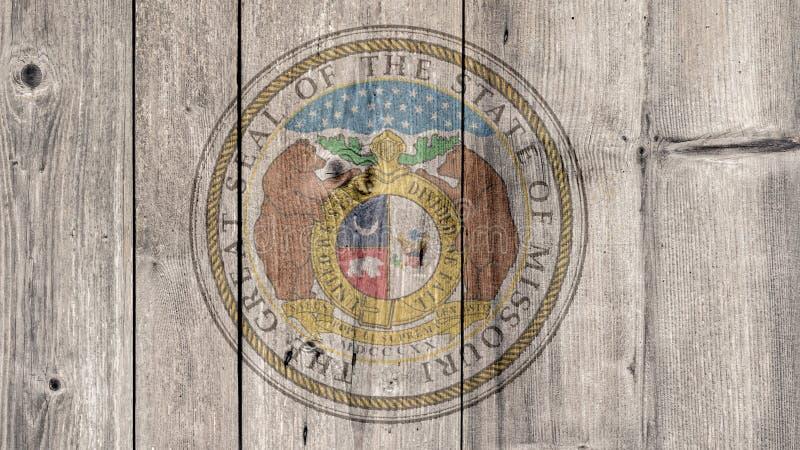 美国各州密苏里封印木篱芭 库存图片