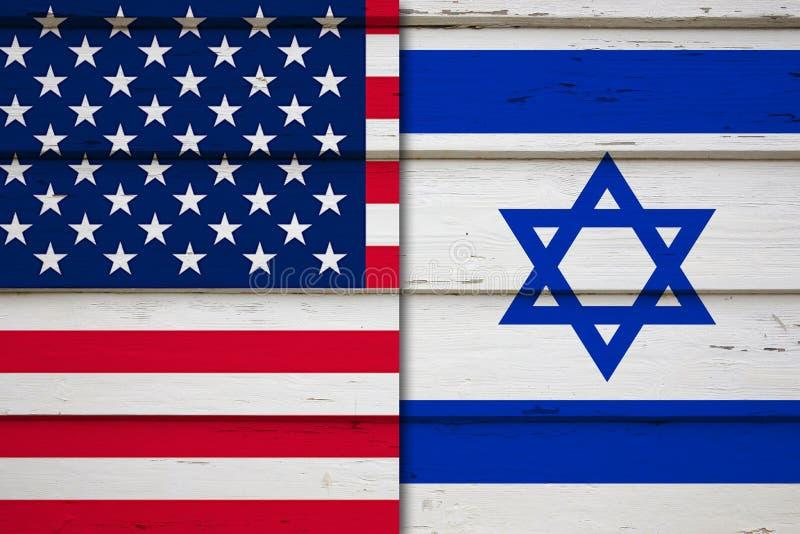 美国和以色列旗子 向量例证