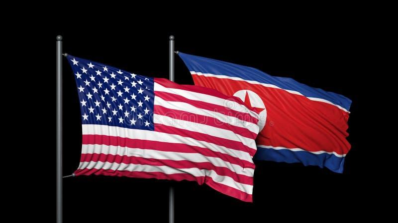 美国和朝鲜 向量例证