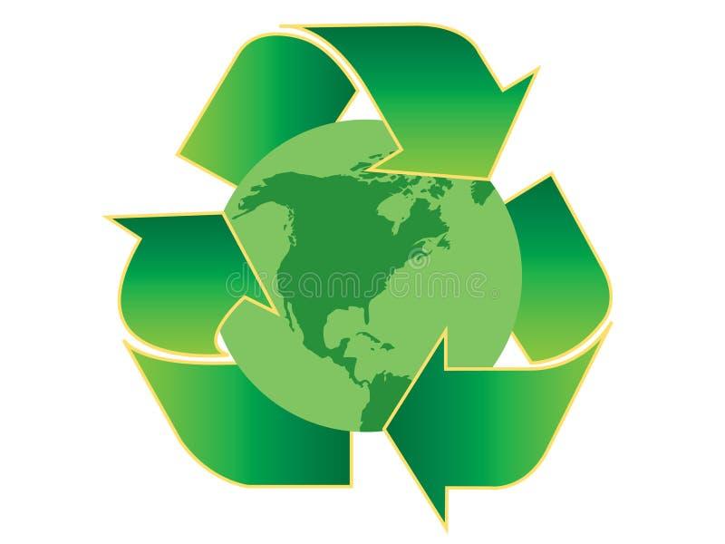 美国回收 向量例证