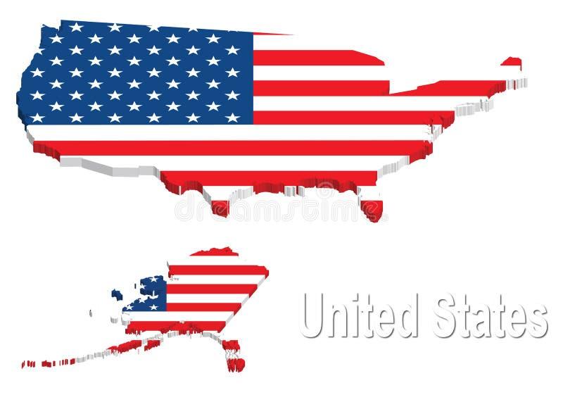美国团结的映射状态 库存例证
