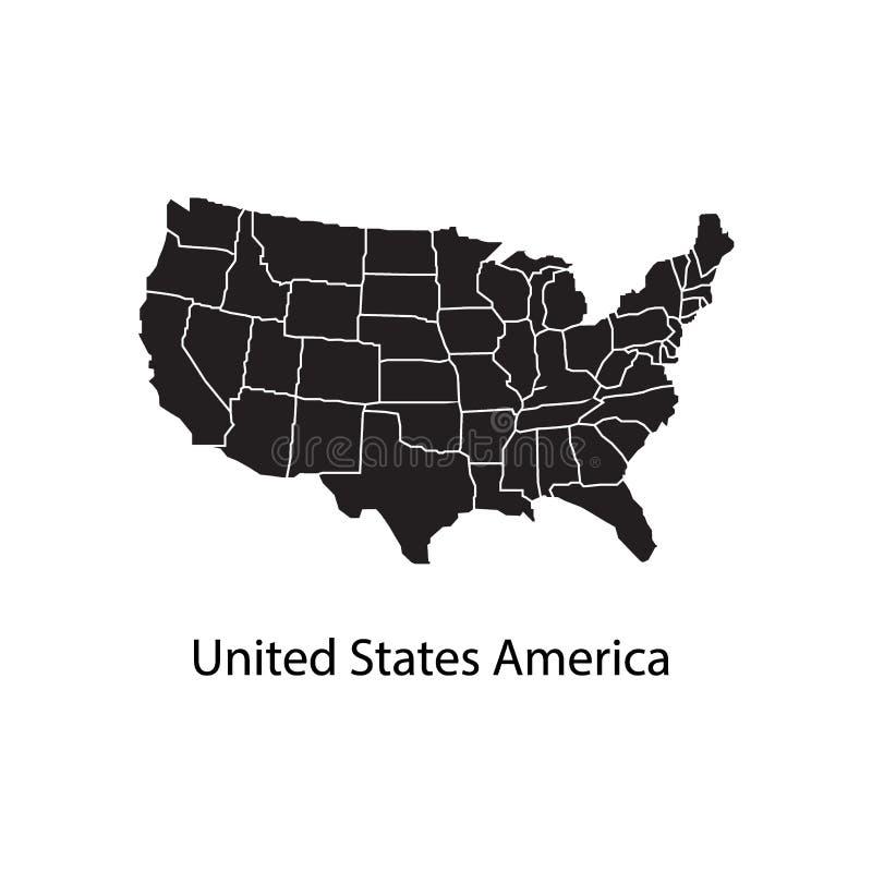 美国团结的映射状态 向量例证