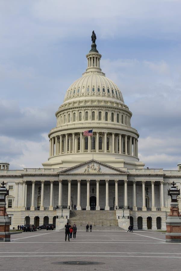 美国国会在美国 免版税库存照片