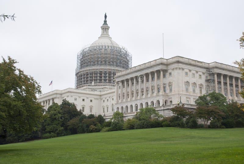 美国国会大厦修理 库存照片