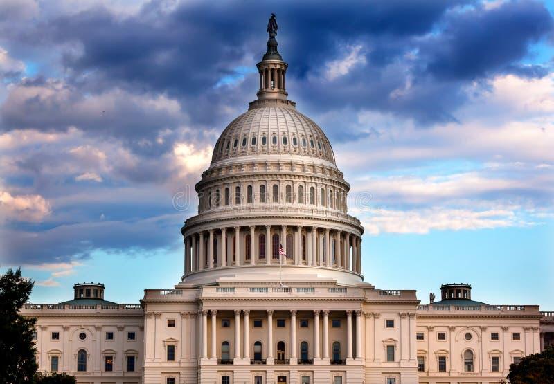 美国国会大厦国会华盛顿特区圆顶之家  库存图片