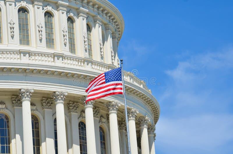 美国国会大厦圆顶细节,华盛顿特区 免版税图库摄影