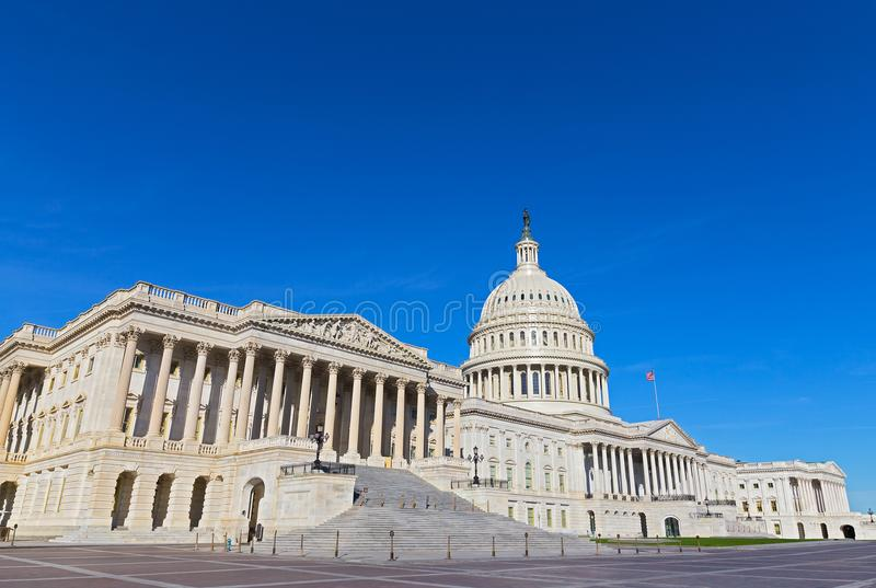 美国国会大厦大厦早晨 免版税图库摄影